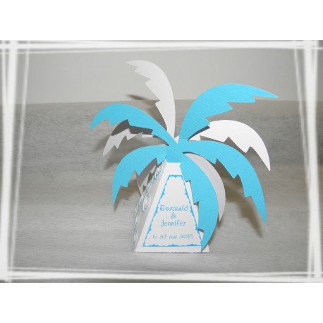 Boîte à dragée palmier