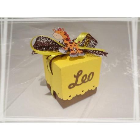 Boîte à dragées Girafe