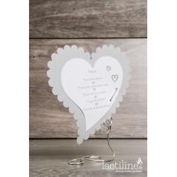Menu mariage Coeur gris
