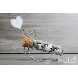 Boîte à dragées Eprouvette Coeur