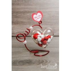 Boîte à dragées Coeur Plexi OUI