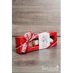 Boîte à dragées mariage rouge et blanc