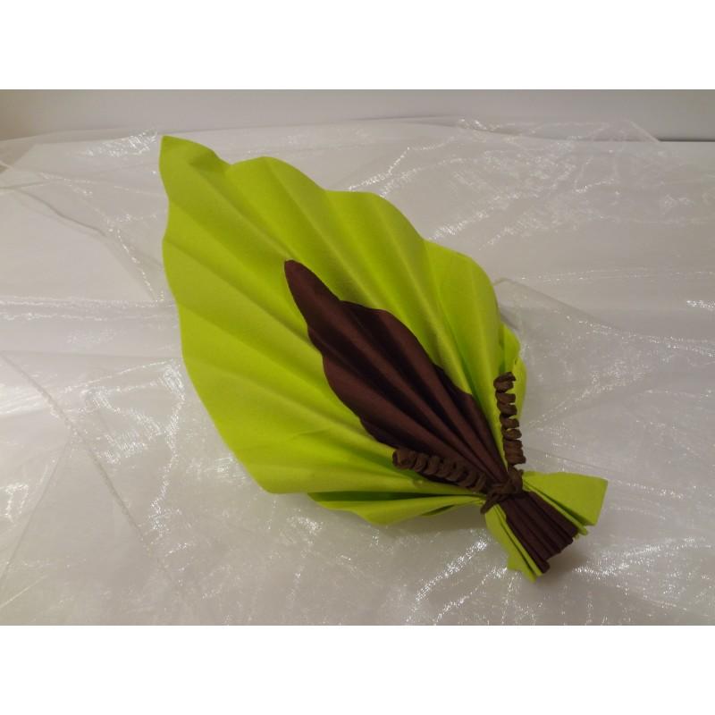 Serviette pli e feuille de palme - Pliage de serviette en papier 2 couleurs feuille ...
